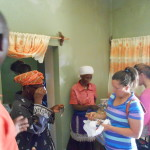 Marti and her team handing out reading glasses to ladies they began discipling.