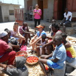 Marti sharing the Gospel with this group of ladies...incredible pic!!!