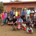 Our team arriving at the Village of Achada Ponte.