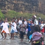 The whole time during Baptisms, the Believers on the beach were singing and shouting to God