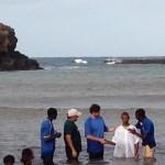 Alan Baptizing new Believers at Achada Ponte