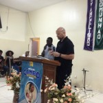 Paul sharing his testimony with the Church in Terra Branca